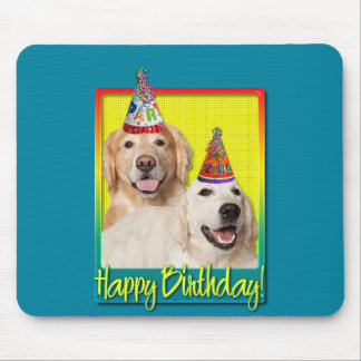 Birthday Party Hat - Golden Retriever Tebow Corona Mouse Pads
