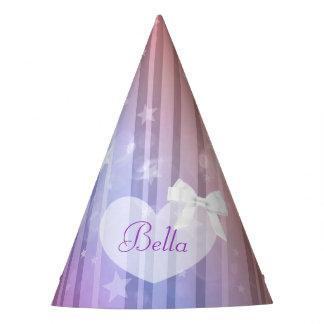 Birthday Party Hat Purple Pink Stars