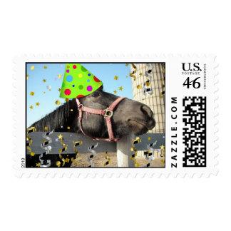 Birthday Party Horse Postage
