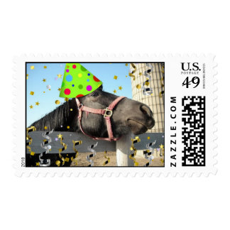 Birthday Party Horse Postage Stamp