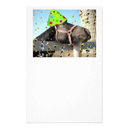 Birthday Party Horse Stationery