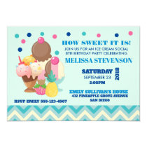 Birthday Party Ice Cream Social Invitation