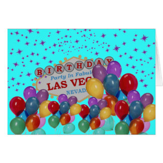 BIRTHDAY PARTY In Fabulous Las Vegas with lots of  Card