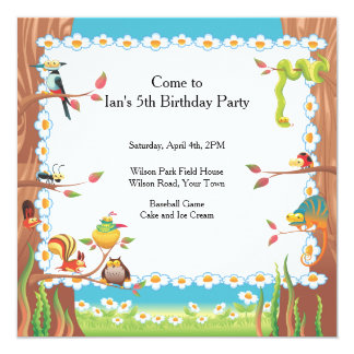 Birthday Party in the Park Card