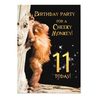 Birthday party invitation 11, with orangutan
