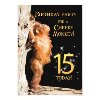 Birthday party invitation 15, with orangutan