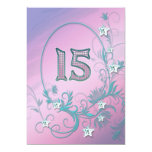 "Birthday party invitation 15 years old 5"" x 7"" invitation card"
