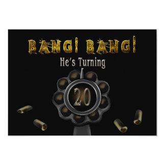 BIRTHDAY PARTY INVITATION - 20TH - BANG BANG!