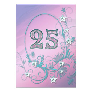 Birthday Party Invitation 25 Years Old