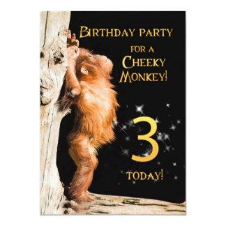 Birthday party invitation 3, with orangutan
