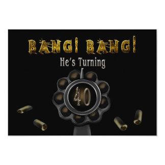 BIRTHDAY PARTY INVITATION - 40TH - BANG BANG!