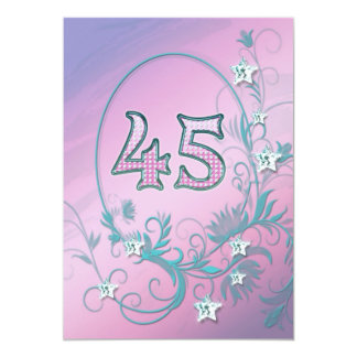 Birthday party invitation 45 years old