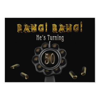 BIRTHDAY PARTY INVITATION - 50TH - BANG BANG!