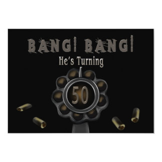 BIRTHDAY PARTY INVITATION - 50TH - BANG PEWTER