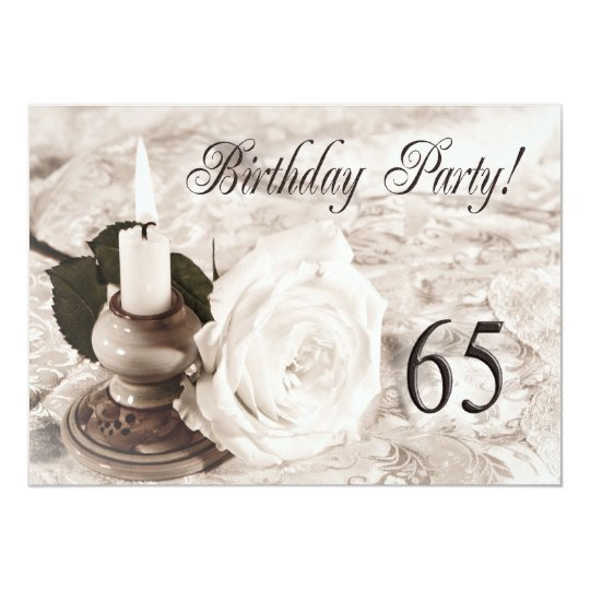 Birthday party invitation 65 years old