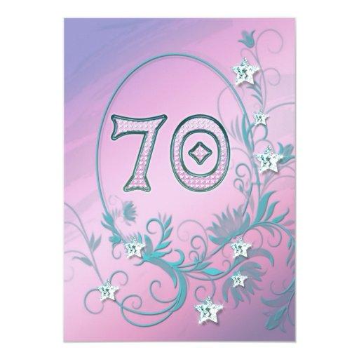 Birthday party invitation 70 years old  Zazzle