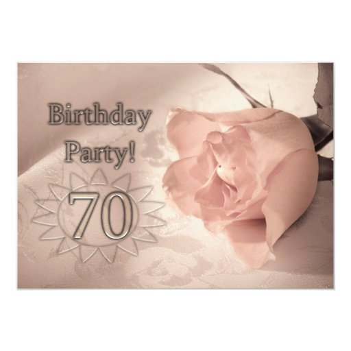 Birthday Party Invitation 70 Years Old