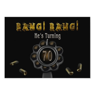 BIRTHDAY PARTY INVITATION - 70TH - BANG BANG!
