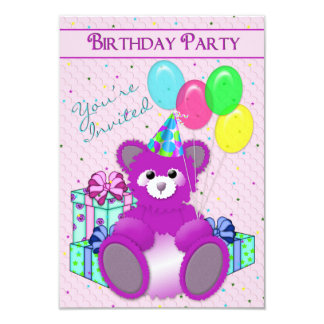 BIRTHDAY PARTY INVITATION - ADD CHILD'S AGE/TEDDY