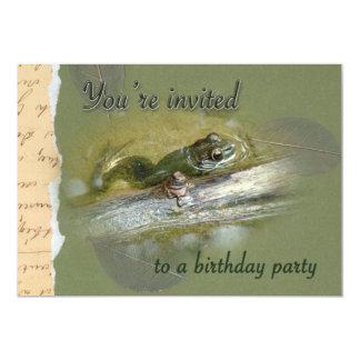 Birthday Party Invitation - American Bullfrog