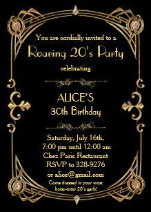 gatsby invitations zazzle