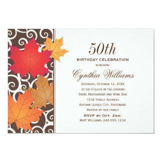 Birthday Party Invitation   Autumn Fall Theme