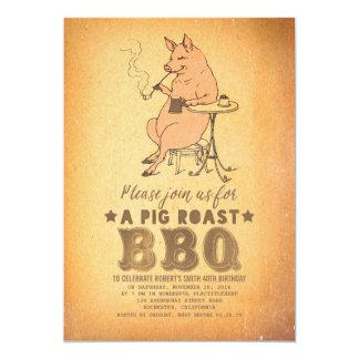 Birthday Party Invitation | BBQ FUN PIG