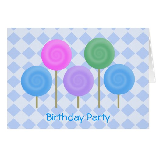 Birthday Party Invitation Blue Cards