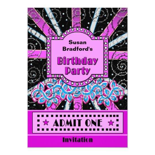 Birthday Celebration Chicago Style: BIRTHDAY PARTY INVITATION - BROADWAY TICKET STYLE