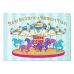 Birthday Party INVITATION - Carousel - Children