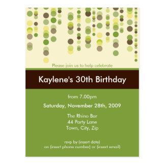 BIRTHDAY PARTY INVITATION :: discotek 4 Postcard