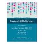 BIRTHDAY PARTY INVITATION :: discotek 5 Post Card