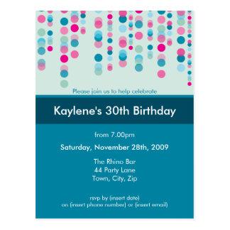 BIRTHDAY PARTY INVITATION :: discotek 5 Postcard