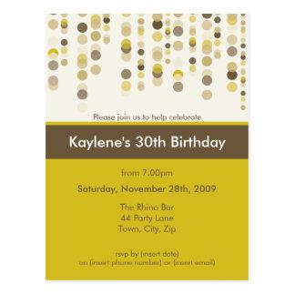 BIRTHDAY PARTY INVITATION :: discotek 6 Postcards