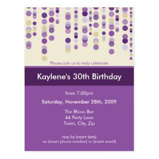 BIRTHDAY PARTY INVITATION :: discotek 7 Postcard