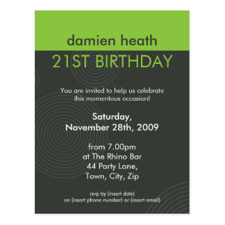 BIRTHDAY PARTY INVITATION :: dynamic centric P10 Post Cards