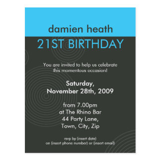 BIRTHDAY PARTY INVITATION :: dynamic centric P7 Postcards