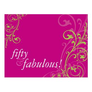 BIRTHDAY PARTY INVITATION :: fabulous 1 Postcard