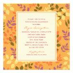 Birthday Party Invitation | Fall Leaves Border
