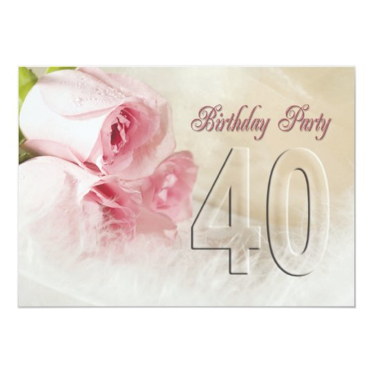 Birthday party invitation for 40 years