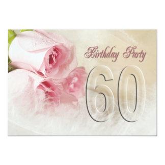 "Birthday party invitation for 60 years 5"" x 7"" invitation card"
