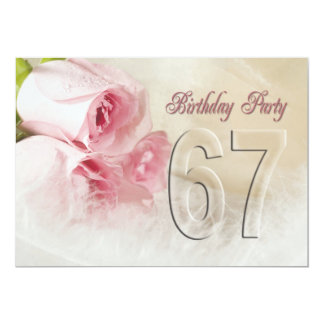 Birthday party invitation for 67 years