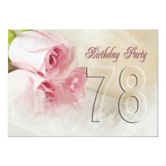 "Birthday party invitation for 78 years 5"" x 7"" invitation card"
