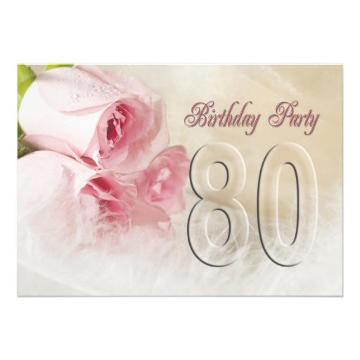 Birthday party invitation for 80 years