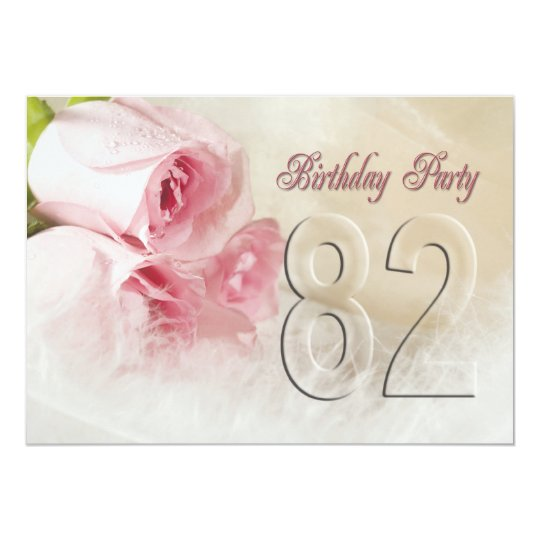 Birthday party invitation for 82 years