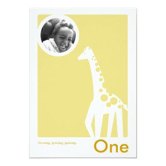 Birthday Party Invitation Gentle Giraffe