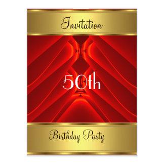Birthday Party Invitation Gold 50th Birthday Party