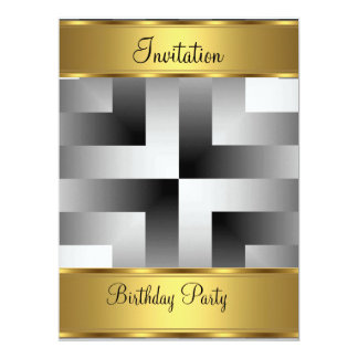 Birthday Party Invitation Gold Birthday Party