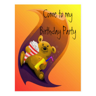 Birthday Party Invitation Hand Out Card
