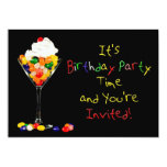 """Birthday Party Invitation (Jelly Bean) 5"""" X 7"""" Invitation Card"""